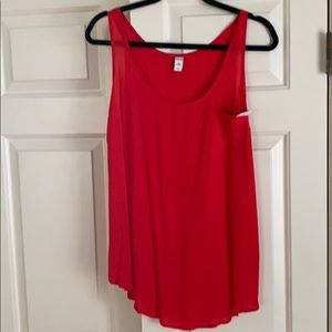 Old navy red sleeveless blouse / tank top